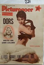 PICTUREGOER,1956 FEB 25,SIMON MCQUEEN Cover,DIANA DORS,EARTHA KITT,,JOHNNIE RAY