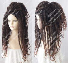 Dark Brown Jamaica Reggae Curly hair wig dreadlocks HIPHOP unisex Fashion wig