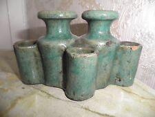 ancien  encrier    ceramique  Maocaine  18 / 19  eme