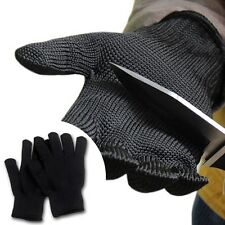 UK 1 Pair Stainless Steel Wire Safety Cut Metal Mesh Butcher Protector Gloves