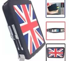 UNION JACK DOUBLE EJECTION CIGARETTE BOX/CASE HOLDER WITH IN BUILT LIGHTER