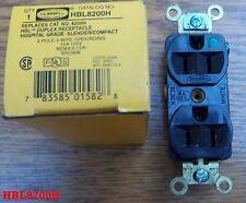 Hubbell HBL8200H 15 AMP 125 Volt  5-15R Hospital Grade brown Duplex  RECEPTACLE