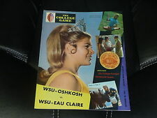 1969 WISCONSIN STATE WSU-OSHKOSH VS WSU - EAU CLAIRE COLLEGE FOOTBALL PROGRAM
