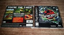 THE LOST WORLD JURASSIC PARK 3D PLAYSTATION 1 PS1 EX+NM CONDITION COMPLETE!