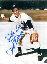 AUTHENTIC baseball legend, announcer Phil Rizzuto signed 3.5 x 4.5 inch photo