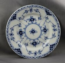 "Royal Copenhagen Blue Fluted Half Lace 6 1/4"" Bread & Butter #575 Sold Ind"