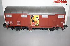 """Märklin 58267 2-Achser gedeckter Güterwagen """"ATA"""" Gmms44 DB Europ Spur 1 OVP"""
