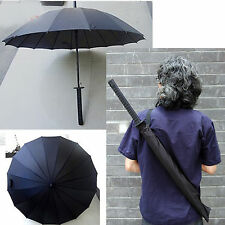 Black AUTO Men's umbrella travel personality long handle UV Standard/Classic