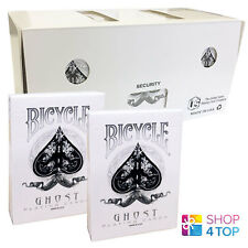 BICYCLE GHOST WHITE ELLUSIONIST PLAYING CARDS 12 DECKS MAGIC SEALED BOX CASE NEW