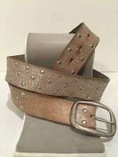 Arizona Jeans Co Sparkly Distressed Leather Belt