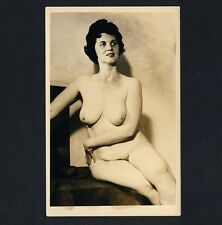 BUSTY NUDE MATURE WOMAN / ÜPPIGE NACKTE FRAU Akt * Vintage 1930s Photo PC