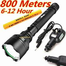 SMALL SUN 800 METERS 2000 LUMEN TACTICAL CREE Q5 LED FLASHLIGHT + AC DC charger