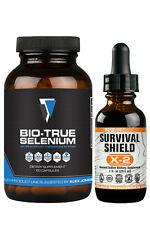 SURVIVAL SHIELD X-2 ENTSTEHENDE JOD + BIO-TRUE ORGANIC SELENIUM - INFO WARS