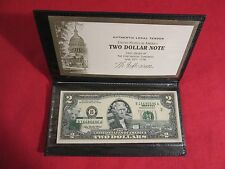 2003A GREEN SEAL $2 BILL STATE MONTANA BEAR GRIZZLY TWO DOLLAR BILL UNCIRCULATED