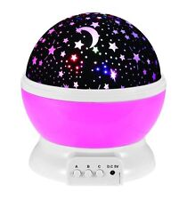 LED Rotating Star Projector Baby Night Light For Children Kids Lighting Lamp