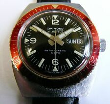 Vintage 1970s Raimond 21 jewels Swiss made diver's watch.