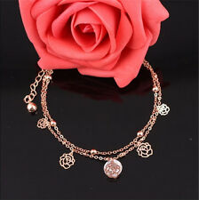 New Charm Gold Plated Anklets Trendy Carving Hollow Ankle Bracelet Foot Chain BB