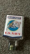 American U S Navy Bud Light bar font tap