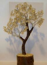 Citrine Gem Tree 8in Tall - Gemstones Can Be Moved to your Liking - Feng Shui