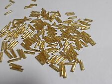 BUGLE BEADS 10mm GOLD 50g Glass Tube Twirl Swirl Long Hollow Jewellery 900pcs
