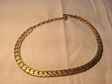 Trifari Textured Goldtone Choker Necklace Jewelry