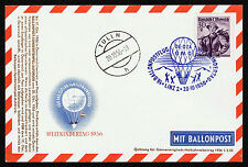 1956 AUSTRIA BALLON POST FLIGHT POSTAL CARD CHILDREN'S WORLD   (ESP#157)