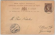 51893 -   Leeward Islands -  POSTAL HISTORY -  STATIONERY CARD to GERMANY 1894