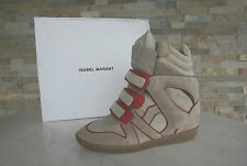 ISABEL MARANT 41 High Top Sneakers WILA Bottines Chaussures rouge neuf