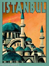 Istanbul Turkey #2 Vintage Travel Art Advertisement Poster