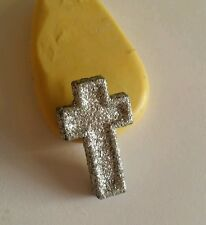 Silver cross religious 23mm Flexible silicone mold for chocolate fondant clay