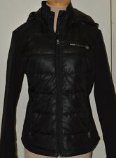 Women's Free Country Black Water & Wind Resist Down Ltwt. Hooded Coat Large