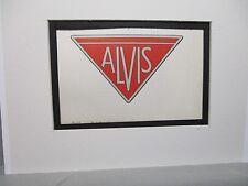 Alvis   Britian Car Emblem Decal by Artist Color Illustration Exhibit