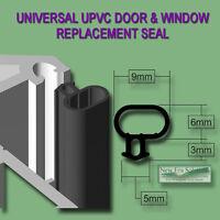 UNIVERSAL BLACK SEAL UPVC DOOR WINDOW DRAUGHT EXCLUDER REPLACEMENT RUBBER GASKET