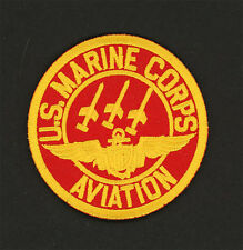 "US Marine Corps Aviation Patch Embroidered Iron-On Patch [3"" Round]"