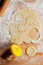 Personalised Letters & Shapes Biscuit Stamp Circular Customisible Design Cutter