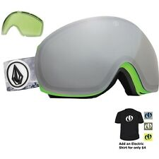 NEW Electric EG3 Volcom Green Silver mens snowboard goggles +free lens Msrp$220
