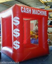 Hot sale Red Color Inflatable Money Machine Cash Cube Money Booth for Sale