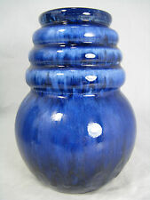 "70´s WEST GERMAN POTTERY VASE SCHEURICH ""WIEN"" DESIGN A.SEIDE BLUE GLAZE"