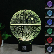 Star Wars Death Star 3D Touch Control Night  Light 7 Color LED Desk Table Lamp