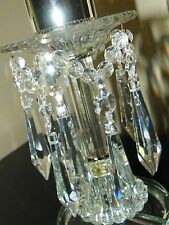 "20~Asfour 30% Lead Crystal #401 Silver 4"" U-Drop  Chandelier~Lamp Prisms~NEW"