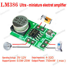 DC 3V-12V 5V LM386 Micro Auido Power Amplifier Board Microphone Amp Module 750mW