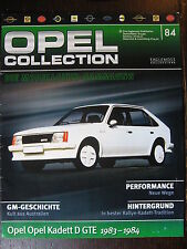 FASCICULE ALLEMAND 84 OPEL COLLECTION KADETT D GTE 1983-1984