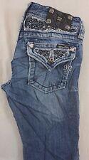 Miss Me Kids Girls Boot Cut Denim Jeans w Gem Studded Flap Pkts 14 x 25 [J13163]
