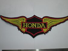 Large HONDA Wing motorcycle sew/ iron on embroidered patch biker jacket NEW