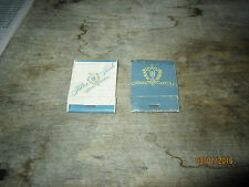 Vintage match book, Hilton Hotels Around the World list of locations, lot of two