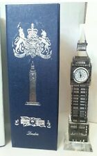 Silver Metal Plated London Big Ben Clock  with lights British Souvenir  Gift