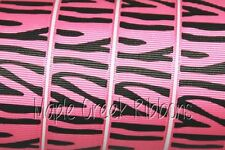 Tiger Print Grosgrain Ribbon 5/8 inch x 1 yard (3 ft of cut ribbon)