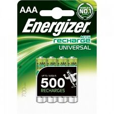 4x ENERGIZER 700Mah NiMH RECHARGEABLE BATTERIES AAA LR03 MN2400 HR03 MX2400 24A