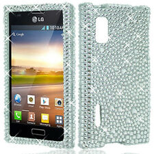 For LG Optimus Extreme L40G Crystal Diamond BLING Hard Case Cover Silver