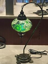 Handmade Mosaic Glass table lamp with LED BULB New LARGE GLOBE